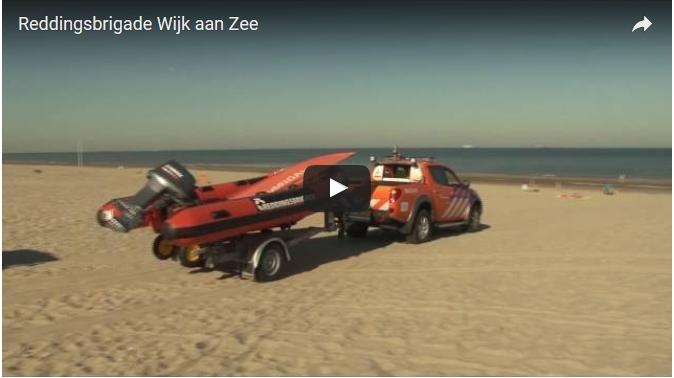 Een mooie opname op het strand bij de Reddingsbrigade in Wijk aan Zee