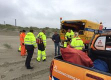 Oefening WRB, KNRM en SOS Reddingshonden