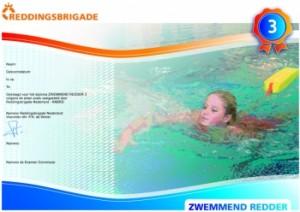 Afzwemmen in zwembad